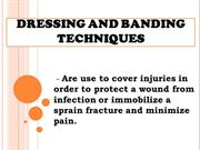 dressing and banding