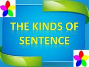 THE KINDS OF SENTENCE