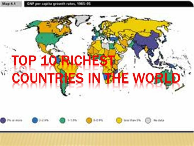 Top 10 richest countries in the world authorstream gumiabroncs Choice Image