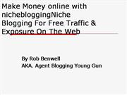 Make Money online with nicheblogging