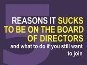 Being on the Board of Directors