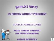 WORLD'S FIRSTS
