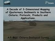 Ontario Geological Survey-3D Aquifer Mapping