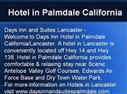 Hotel in Palmdale California, Hotels in