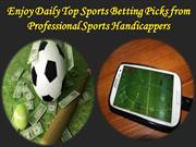 Top Sports Betting Picks from Professional Sports Handicappers