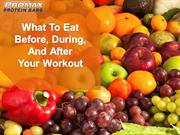 What To Eat Before, During and After Your Workout