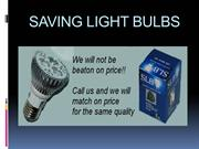 SAVING LIGHT BULBS_PPT2