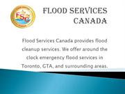 Flood Cleanup Services in Toronto by Food Services Canada