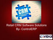 Retail CRM Software Solutions For The Retail Trade By Control ERP