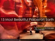 15 Most Beautiful Places In The World