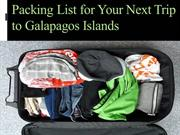 Packing List for Your Next Trip to Galapagos Islands