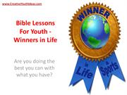 Bible Lessons For Youth - Winners in Life