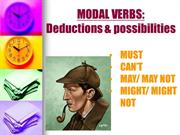 MODAL VERBS OF DEDUCTION