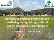Sustainable Intensification in Aquatic Agricultural Systems