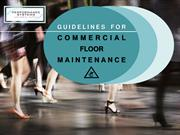 Guidelines for Commercial Floor Maintenance