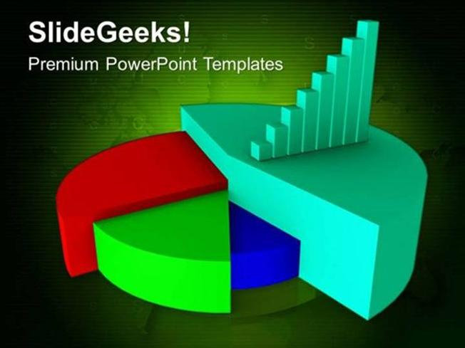 description  a powerpoint template associated with pie charts