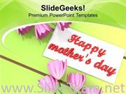 WITH BEST WISHES HAPPY MOTHERS DAY POWERPOINT TEMPLATE