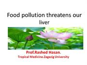 Food pollution threatens our liver