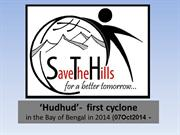 Very Severe Cyclone 'Hudhud' in the Bay of Bengal