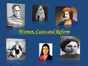 Women, Caste and Reform