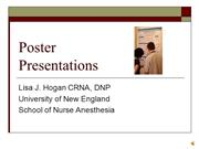 Developing a poster lecture