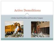 Active-Demolitions - Leading Demolition Company