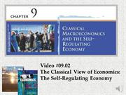 #09.02 -- Classical Theory of Economics -- The Self-Regulating Economy
