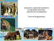 EMPLOYEE CAREER DEVELOPMENT  IN THE HOTEL INDUSTRY–..