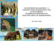 ECOTOURISM MANAGEMENT: A STRATEGY FOR CONSERVATION AND..