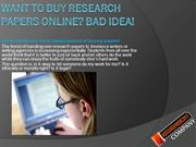 Want to buy research papers online