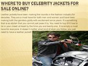 Where to buy celebrity jackets for sale online