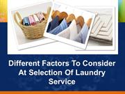 Things to Consider While Seeking Laundry Service