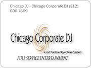 Chicago DJ - Chicago Corporate DJ