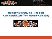 Bad Boy Mowers, Inc - The Best Commercial Zero Turn Mowers Company