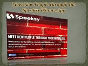Meet New People through the Speeksy iPhone App-www