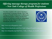 A leading holistic health care college- NY College