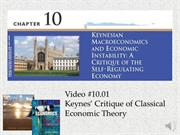 #10.01 -- Keynes' Critique of Classical Economic Theory (7.42)