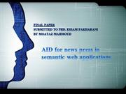 AID for news press in semantic web applications