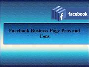 Facebook Business Page Pros and Cons