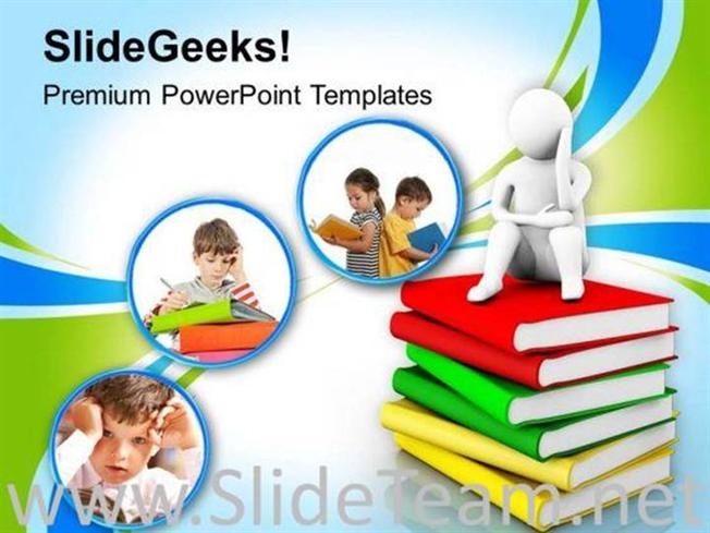 focus on children education powerpoint template powerpoint template