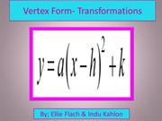 Vertex Form- Transformations