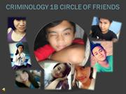 CRIMINOLOGY 1B CIRCLE OF FRIENDS