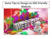 Some Tips to Design A SEO Friendly Website