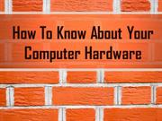 Learn About Computer Hardware From Urgent Tech Help