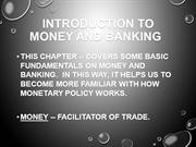Introduction to Money and Banking