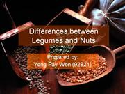 Differences of legumes and nuts