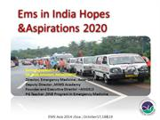 Ems in India Hopes &Aspirations 2020