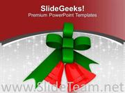 RED DECORATIVE BELLS FOR CHRISTMAS POWERPOINT TEMPLATE