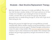 Nicabate – Best Nicotine Replacement Therapy
