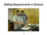 Making Measurements in Science